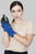 Two Tone Suede Effect Touchscreen Gloves