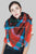 Colourful Tartan Square Scarf with Frayed Edge