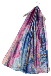 Art Impressionist Meadow Print Silk Scarf - Fashion Scarf World