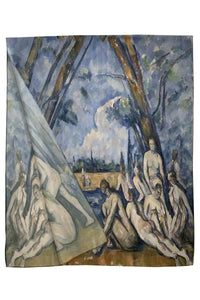 Cezanne Post Impressionism The Bathers Painting Print Art Silk Scarf 3772