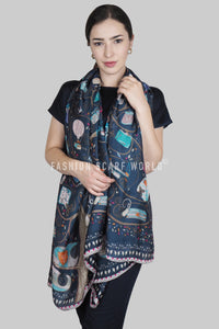 Stylish Handbag Print Silk Scarf