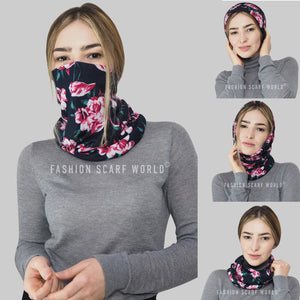Flamingo & Flower Print Snood