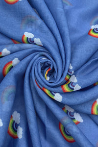 Thank You Rainbow Print Scarf