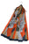 Geometric Print Silk Scarf with Zebra Motif