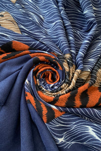 Tiger Animal Motif Print Scarf