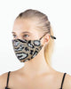 Face Coverings Masks (Pack of 10) Leopard Sequin - Mixed Colours