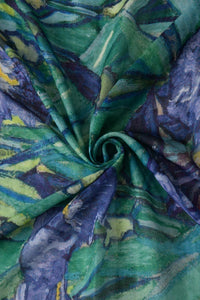 Van Gogh Irises Painting Print Scarf - Fashion Scarf World