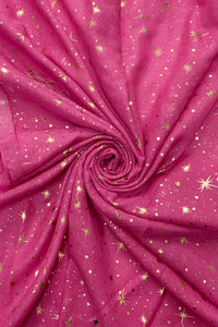 Rose Gold Galaxy Star Foiled Scarf