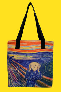 Edvard Munch The Scream Canvas Shopper