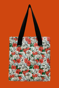 Dalmation Dog & Rose Bag Collection - Shopper