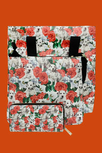 Dalmation Dog & Rose Bag Collection - Purse