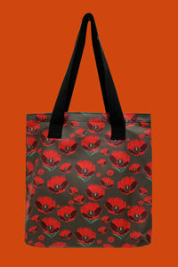 Red Poppy Flower Bag Collection - Shopper