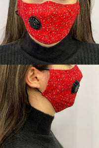 Face Coverings Masks (Pack of 12) Paisley Print - Mixed Colours