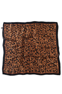 Abstract Leopard Silk Square Scarf - Fashion Scarf World