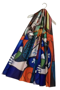 Picasso Cubism Woman With Book Painting Print Art Silk Scarf 3726