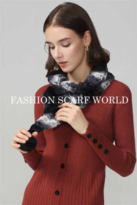 Slim Ruffled Pull Through Bobble Scarf - Fashion Scarf World