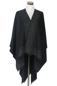 Mirror Stone Edge Poncho - Fashion Scarf World