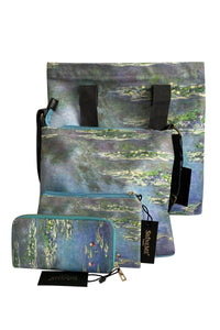 Claude Monet Water Lilly Print - Mini Clutch - Fashion Scarf World