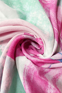 Large Painted Flower Print Scarf - Fashion Scarf World