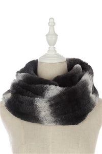 Herringbone Cut Faux Fur Snood - Fashion Scarf World