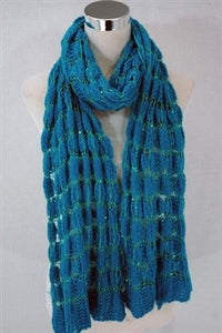 Sequin Knitted Wool Scarf - Fashion Scarf World