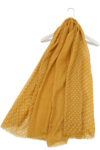 Gradual Polka Dot Print Scarf - Fashion Scarf World