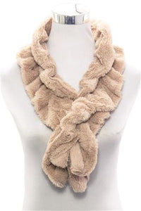Plain Faux Fur Scarf (Slim)