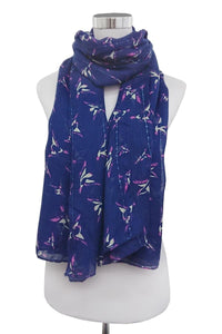 Abstract Swallow Print Scarf - Fashion Scarf World