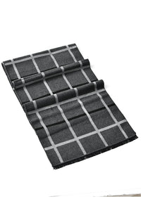 Reversible Soft Check Frayed Unisex Scarf - Fashion Scarf World