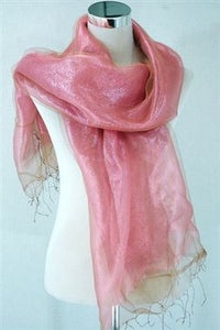 Exotic Layered Silk Transparent Scarf - Fashion Scarf World