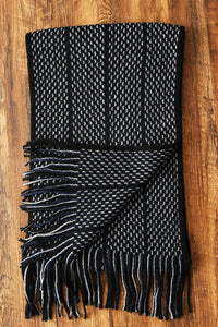 Zigzag Knitted Tassel Unisex Scarf - Fashion Scarf World