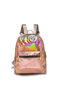Holographic Plain Mini Backpack - Fashion Scarf World