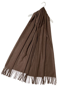 Super Soft Plain Pashmina Tassel Scarf - Fashion Scarf World