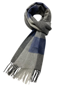 Herringbone Check Stripe Wool Unisex Scarf - Fashion Scarf World