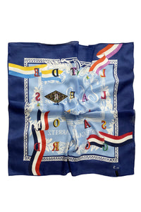 Vintage Letter Print Square Scarf - Fashion Scarf World