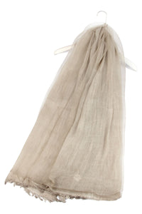 Plain Double Layered Silk Scarf - Fashion Scarf World