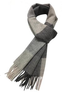 Herringbone Check Wool Unisex Scarf - Fashion Scarf World