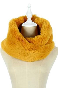 Twist Faux Fur Snood (B) - Fashion Scarf World