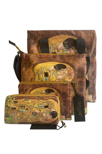 Klimt The Kiss Print - Crossbody - Fashion Scarf World