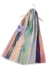 Abstract Sailing Boat Painting Frayed Scarf - Fashion Scarf World