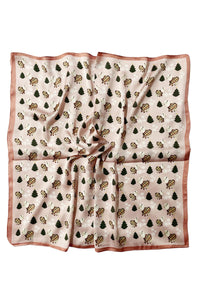 Cute Festive Lamb Print Square Scarf - Fashion Scarf World