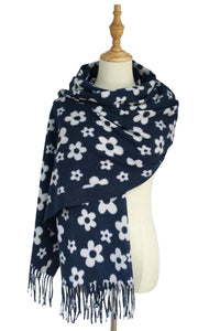 Simple Retro Floral Tassel Scarf - Fashion Scarf World