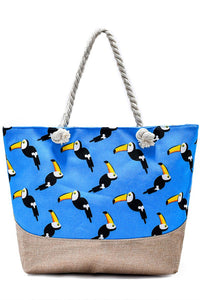 Toucan Print Beach Bag - Fashion Scarf World