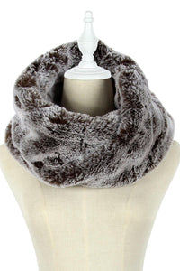 Twist Faux Fur Snood (A) - Fashion Scarf World