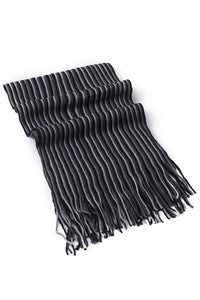 Multi Stripe Knitted Tassel Unisex Scarf - Fashion Scarf World