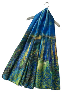 Van Gogh Post Imressionism Starry Night Over The Rhone Painting Print Art Silk Scarf 3723