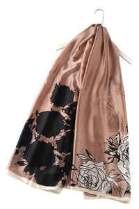 Luscious Rose Print Silk Scarf - Fashion Scarf World