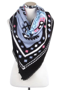 Pastel Aztec Print Blanket Wrap - Fashion Scarf World