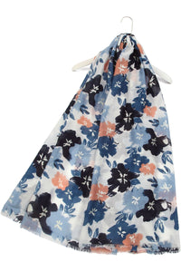 Metallic Watercolour Flower Print Scarf - Fashion Scarf World