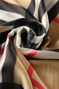Art Deco Inspired Border Check Silk Scarf - Fashion Scarf World